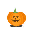 orange scary pumpkin in thin line flat style vector image