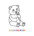 panda for coloring book vector image vector image
