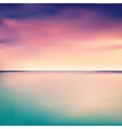 Panorama of a sunset in the sea or ocean vector image
