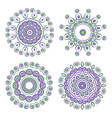 round ornamental pattern vector image