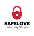 Safe Love Design vector image vector image