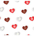 seamless pattern with hearts valentines day theme vector image