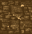 seamless pattern with illegible scribbles and vector image vector image
