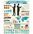 set infographic elements for design vector image