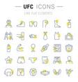set line icons ufc vector image