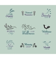 set of hand drawn vintage logos with vector image vector image