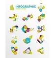 Set of modern business infographics vector image