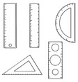 set of ruler vector image