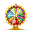 spinning money wheel of fortune with jackpot vector image