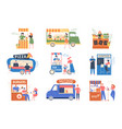street market outdoor counter fair tents vector image