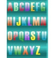 Striped artistic Font vector image