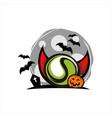 tennis halloween moon theme vector image vector image