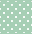 tile pattern with white dots on mint background vector image