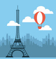 tower eiffel french culture vector image vector image