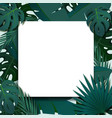 tropical foliage frame template vector image