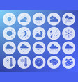 weather shape carved flat icons set vector image