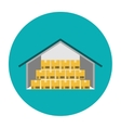 Warehouse flat icon vector image