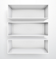 3d isolated empty white bookshelf vector | Price: 3 Credits (USD $3)