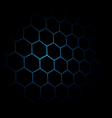 Abstract black Hexagon pattern background Blue vector image vector image