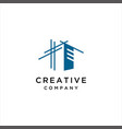 architect house logo architectural vector image vector image
