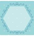 Blue vintage monogram vector image