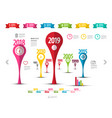 business report timeline infographic design vector image vector image