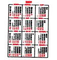 calendar fun vector image vector image