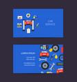 card template for auto service vector image vector image