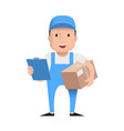 character delivery man vector image vector image