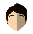character face man worker profile shadow vector image