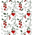 Cherry Berry Seamless Pattern vector image vector image