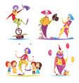 clowns design concept vector image vector image