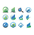 collection of business logo icon template vector image vector image