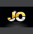 combination letter jo j o alphabet with gold vector image