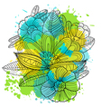 composition with decorative flowers vector image