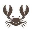 crab cartoon icon graphic vector image