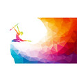 creative silhouette gymnastic girl art vector image vector image