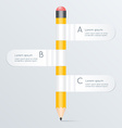 creative template with pencil banner flow chart vector image vector image