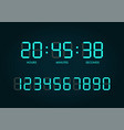 digital clock numbers set vector image