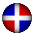 Dominican Republic flag button vector image vector image