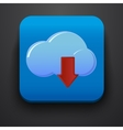 Download symbol icon on blue vector image vector image