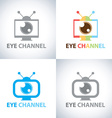 Eye channel vector image vector image