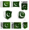 flag pakistan vector image vector image