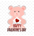 happy valentines day typographic with bear vector image