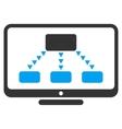 Hierarchy Monitoring Flat Symbol vector image vector image