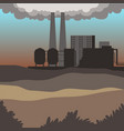 industrial buildings modern city landscape vector image