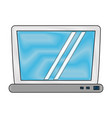 laptop pc technology vector image vector image
