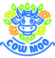 logo of cow vector image vector image