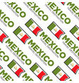 mexico travel destination national flag seamless vector image vector image