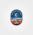 modern cabin emblem logo design cottage logo vector image vector image
